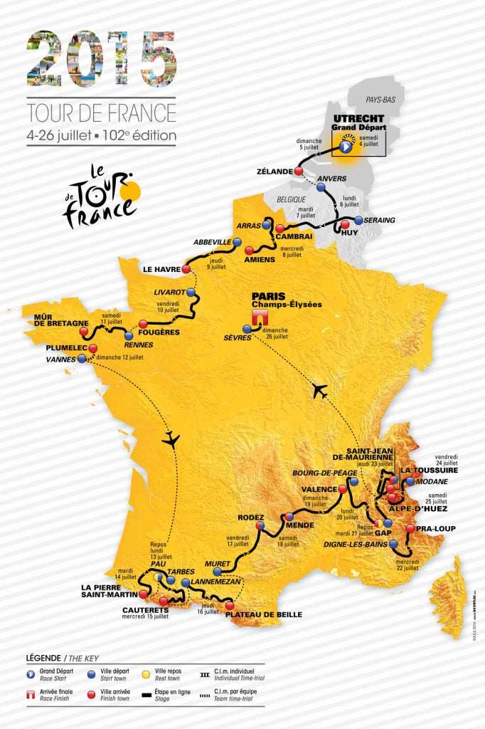 Map Of France Key Stage 2.Key Stages Of The 2015 Tour De France Peloton Magazine