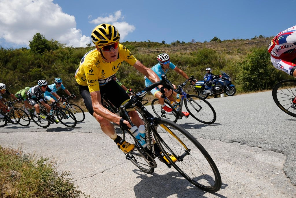 22 July 2015 102nd Tour de France Stage 17 : Digne-les-Bains - Pra Loup FROOME Christopher (GBR) Sky, Maillot Jaune Photo : Yuzuru SUNADA