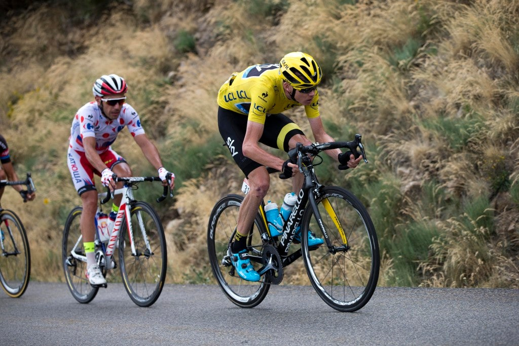 19 July 2015 102nd Tour de France Stage 15 : Mende - Valence FROOME Christopher (GBR) Sky, Maillot Jaune Photo : Yuzuru SUNADA