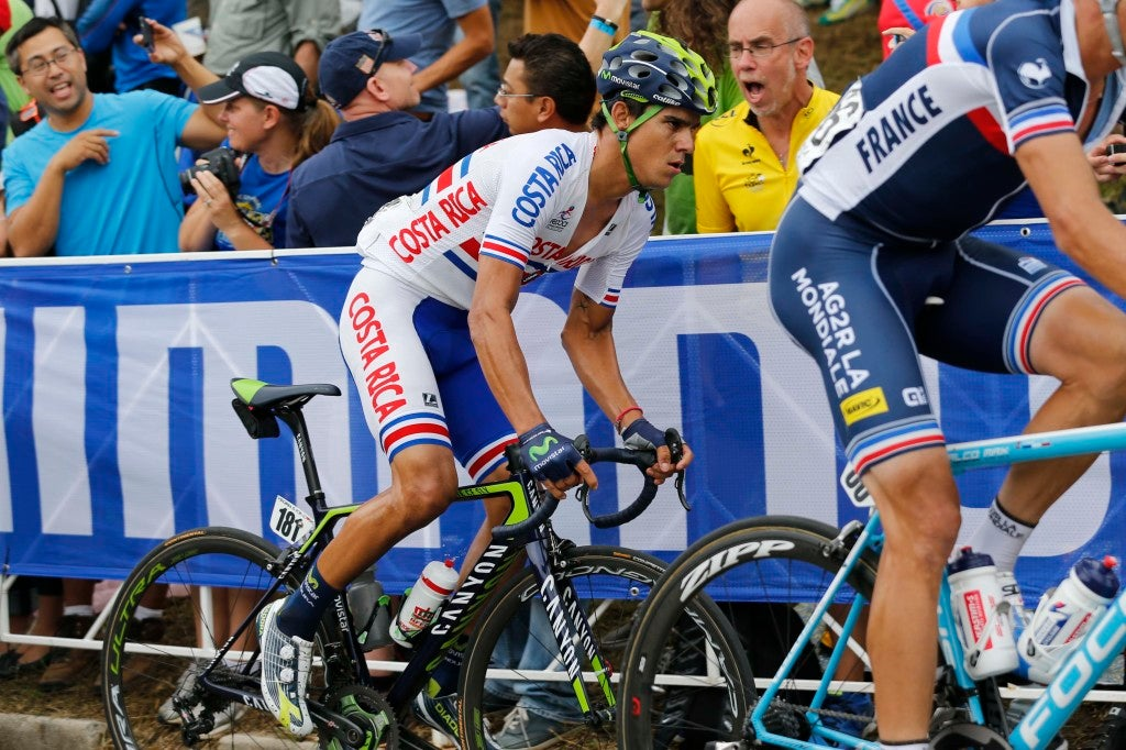 27 September 2015 Road World Championships (Richmond, USA) Men Elite AMADOR Andrey (CRC) Movistar Photo : Yuzuru SUNADA