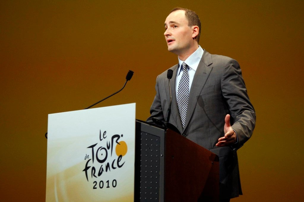 14 October 2009 Presentation of Tour de France 2010 AMAURY Jean-Etienne (ASO) President of A.S.O. Photo : Yuzuru SUNADA