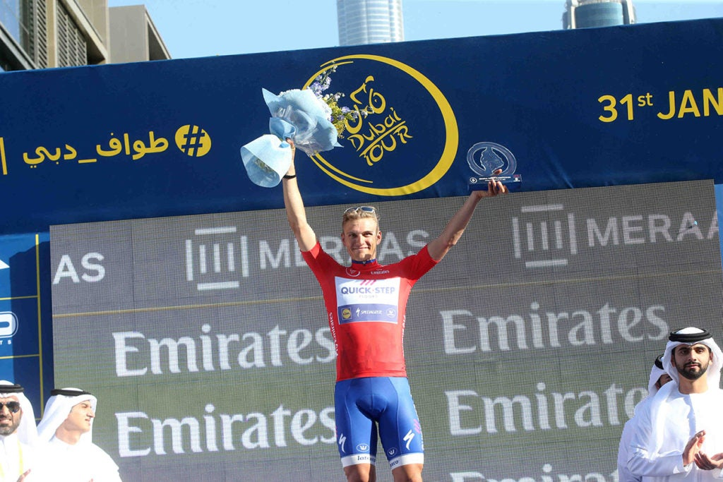 Marcel Kittel of Quick-Stepp Floors team reacts before start for 5th stage of the Dubai Tour 2017 cycling race, the Meraas Stage of 124km. United Arab Emirates, 2 February 2017. ANSA / MATTEO BAZZI