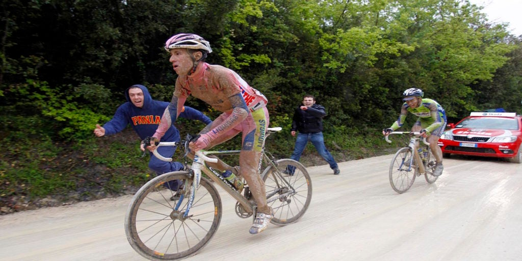 Vincenzo Nibali, who rode the white roads at the 2010 Giro d'Italia, is also starting this weekend's Strade Bianche.