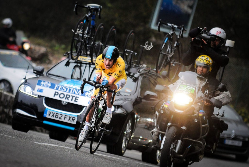 Richie Porte on his way to winning his first Paris-Nice in 2013. He hopes to make it three this year.