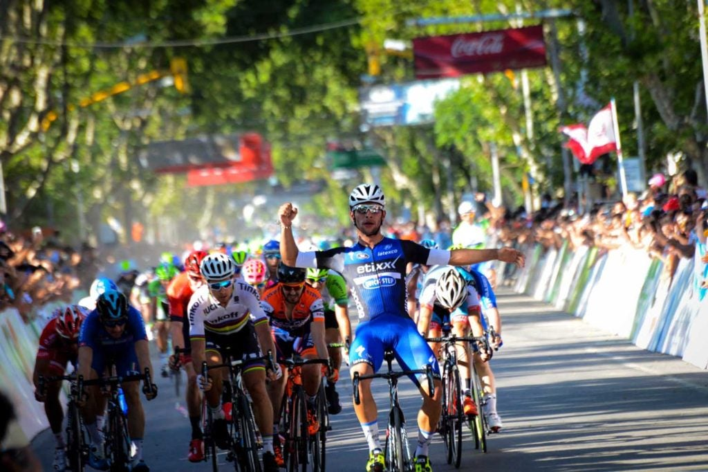 Fernando Gaviria first gained international attention in Argentinian races like the Tour of San Luis, where he beat world champion Peter Sagan in 2016.