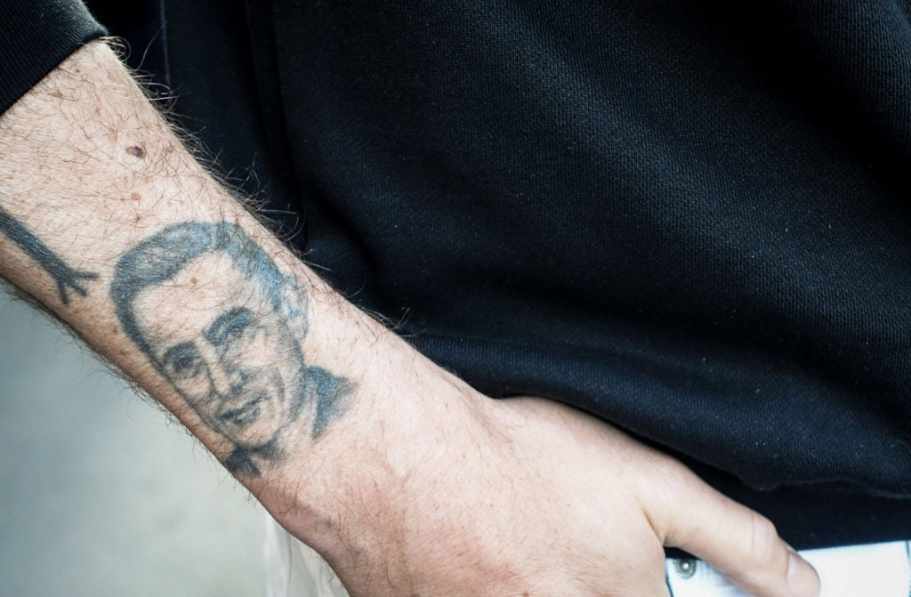 With his Fausto Coppi tattoo, Karl-Oskar Olsen makes no effort to hide who his favorite cyclist was.